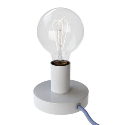 Метална настолна лампа Бяла