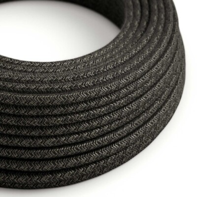 Кръгъл текстилен кабел Антрацит